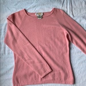 Talbots Med Pink Cashmere Sweater